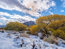 The changing of the seasons can be so beautiful This was my view yesterday near Pyramid Lake in Southern California
