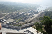 The channel locks of the Three Gorges Dam