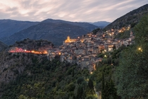 The charming village of Saorge in the Alpes-Maritimes department in southeastern France