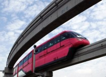 The Chembur-Wadala corridor monorail Indias first monorail route on its trial run in Mumbai