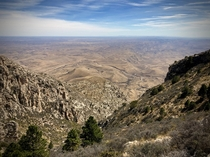 The Chihuahuan Desert from Guadalupe Peak Guadalupe Mountains National Park Texas