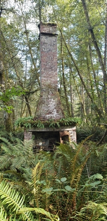 the chimney is all that remains of the Jacob homestead