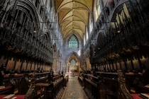 The choir inside Chester Cathedral England