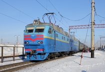 The ChS electric mainline passenger locomotive used in Russia and Ukraine Built between  and  it was developed for pulling long passenger trains  carriages at speeds of  kilometres per hour  mph or faster Photograph George Chernilevsky