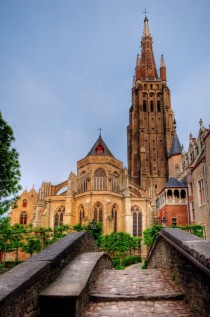 The Church of Our Lady in Bruges Belgium built in the th-th centuries