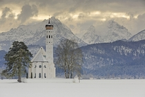 The Church of St Coloman at the foot of the Schwangauer mountains Germany  Photographed by Robert Schller