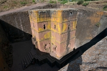 The Church of St George in Lalibela Ethiopia was hewn out of solid rock around  years ago OC