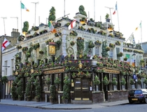 THE CHURCHILL ARMS in Notting Hill dubbed Londons Most Colourful Pub which spends upwards of  annually on upgrading its floral displays