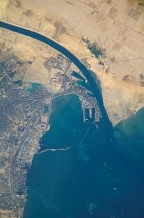 The City and Port of Suez and the terminus of the Suez Canal
