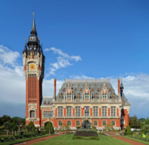 The city hall in Calais France  sg