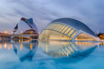 The city of Arts and Science built by Santiago Calatrava  Valencia Spain