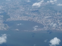 The city of Mumbai India as seen from the air