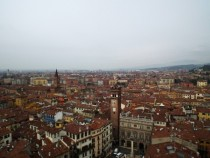 The city of Verona from the Lamberti Tower