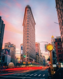 The classic Flatiron view at sunrise