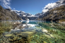 The Clear Water of Lake Erskine Fiordland