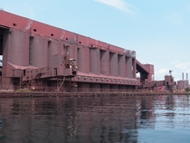The Cliffs Mining Taconite iron ore loading facility in Silver Bay Minnesota