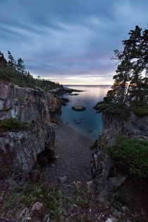 The Cliffs of Ravens Nest at Sunset Acadia NP Maine
