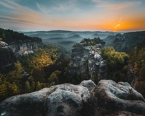 The cliffs of Saxonian Switzerland Germany