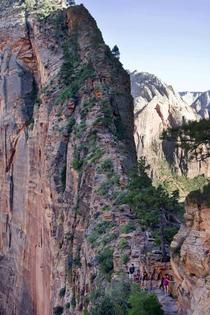 The climb up Angels Landing - Zion National Park UT