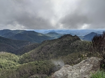 The cloud cover finally lifting over Mt Barney National Park photo taken from Savages Knoll x