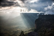 The clouds break over Mt Roraima Venezuela