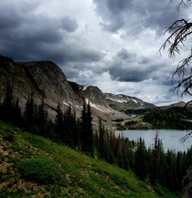 The clouds were rolling in on us at Medicine Bow National Forest