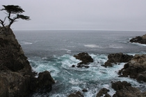 The cloudy coast on the -Mile Drive CA
