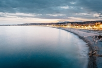 The coastline of Nice France