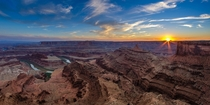 The Colorado River where it passes by Canyonlands Utah