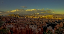 The colorful landscape of Bryce Canyon National Park at Utah