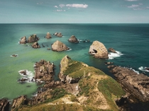 The colorful Nugget Point Otago New Zealand