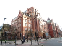 The colossal Sackville Street Building - or UMIST Library - at junction of Sackville Street amp Whitworth Street Chorlton-upon-Medlock Manchester England architextured by Bradshaw Gass amp Hope amp inaugurated  Manchester Universitys biggest building
