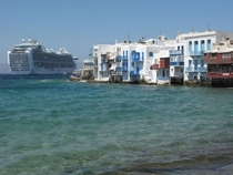 The colourful waters of Mykonos Greece