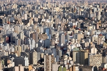 The concrete jungle of So Paulo Brazil