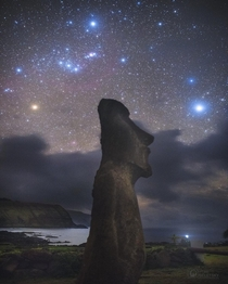 The constellation of Orion over Easter island Credit Carnegie Las Campanas Observatory TWAN