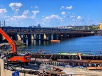 The construction of the New Slussen Stockholm is one of the largest urban transformation projects in Sweden