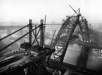 The construction of the Tyne Bridge over the River Tyne in North East England February nd
