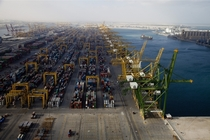 The container terminal at Jebel Ali Port