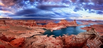 The contrasting colors of Lake Powell Utah  photo by Rick Parchen