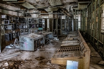 The control room of the abandoned Market Street Power Plant New Orleans