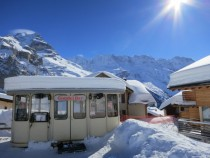 The coolest bar in the world - the Gondel Bar at the Jungfrau Murren Switzerland