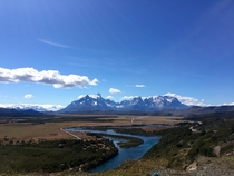 The Cordillera del Paine from afar