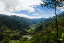 The Cordillera Mountains near Benguet Philippines