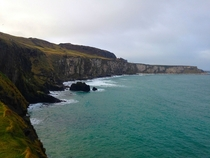 The costal cliffs of Northern Ireland