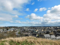 The cozy little town of Elgin Scotland from Lady Hill