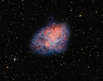 The Crab Nebula M the remnant of a supernova first witnessed by astronomers in the year