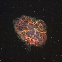 The Crab Nebula - what a star looks like  years after it explodes