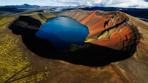 The crater lake of an extinct volcano - Chungarata Chile