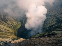 The crater of Mount Bromo Indonesia Sounds like the gates of hell  hermansjoris