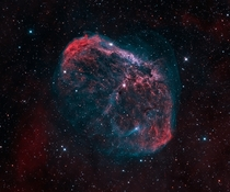 The Crescent Nebula  light years across